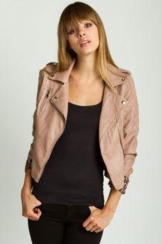 Blushing Beauty Faux Leather Jacket