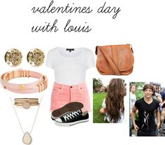 """""""valentines day with louis"""" by adriana-diaz ❤ liked on Polyvore"""