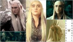 """""""Thranduil was a favourite make-up and hair subject for Peter: 'Lee Pace is a lovely, affable, gentle man but we turned him into this scary-looking character with pale skin, penetrating eyes, silver-blond hair and amazing eyebrows. He looks stunning and it is perfect for his character because Thranduil is intimidating and takes no nonsense and, let me tell you, when Lee comes on set in character, people just clear out of the way!'"""" - Peter Swords King, make-up and hair designer."""