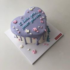 Image about food in aesthetic. by 🖤 on We Heart It Pretty Birthday Cakes, Pretty Cakes, Bts Cake, Korean Cake, Petit Cake, Pastel Cakes, Cute Desserts, Just Cakes, Sweet Cakes