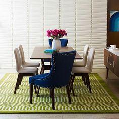 """happy chicjonathan adler bleecker 79"""" rectangle dining table"""