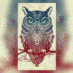 Deep dream filter app owl digital art