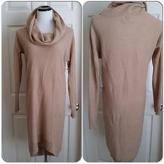 """Cynthia Rowley Cashmere sweater dress #J003 Beautiful crowl neck 100% cashmere, long sleeve, slight hi lo hem, hits right above knee. Great with pumps or pair of boots. Just light enough for the coming fall and warm enough for this winter. Brand new, with tag.#J003 Bust flat across 19"""", length neck down at at is 37"""", front is sligthly shorter, crowlneck is 11"""" Cynthia Rowley Dresses"""