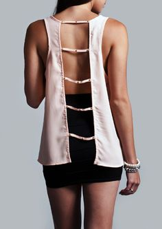 Caged Back Top