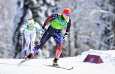 DAY 13:  Kikkan Randall of the USA competes during the Cross Country Women's Team Sprint Classic http://sports.yahoo.com/olympics