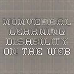 Nonverbal Learning Disability on the Web