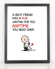 Charlie Brown and Snoopy Best Friend Hug  by ColiseumGraphics,