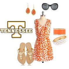 """""""Game Day Dress - Tennessee"""" by gamedaybelles on Polyvore"""