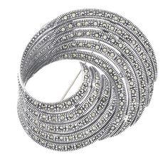 Marcasite Swirl Brooch/Pendant Sterling Silver Elegant Swirl Design Can also be worn as a pendant Marcasite Jewelry, Sterling Silver Jewelry, Semi Precious Gemstones, Natural Gemstones, Irish Rings, Swirl Design, Native American Jewelry, Bridal Jewelry, Jewelry Sets