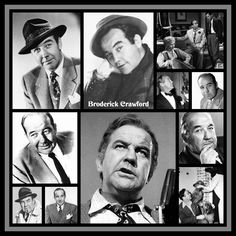 Broderick Crawford Created by Diane Yoder 2018 Broderick Crawford, Bogart And Bacall, Thanks For The Memories, Films, Movies, Classic Hollywood, Thankful, Actors, Film Noir