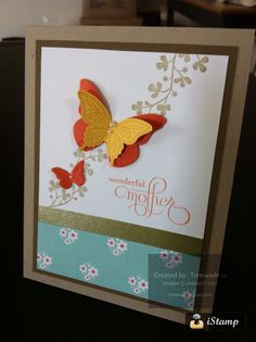 Spring themed Mother's Day card, Stampin' Up! Supplies.