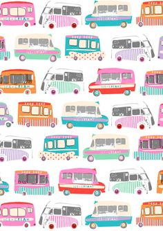 These cheery ice cream trucks remind us of summer!