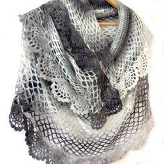Crochet shawl Lace crochet stole Crochet scarf by allmadewithlove