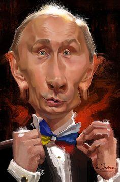 Caricatura de Vladímir Putin