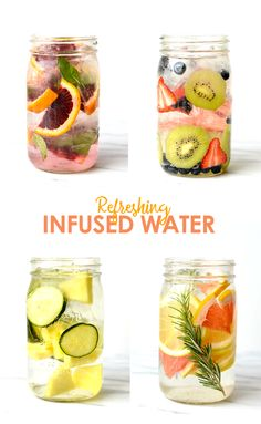 Infused water is the new coffee! Add some flavor to your filtered water with fresh fruit and herbs for the most delicious and refreshing way to hydrate!