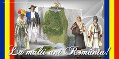 La multi ani România! 1 Decembrie, Romania, Facebook, Color, Posters