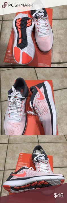 New Women NIKE Flex 2016 Running 🏃Sneakers 👟9.5 New Women NIKE FLEX 2016 Running 🏃 Sneakers 👟 white orange color new size 9.5 Women(sneakers 👟white coral color 👟) Nike Shoes Sneakers
