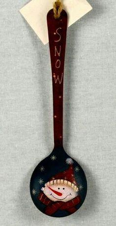 Metal snowman spoon