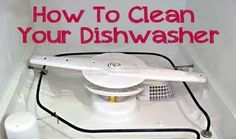 Tips for cleaning the dishwasher