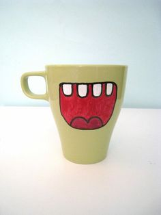 Hand painted monster mug From squackdoodle $8.00