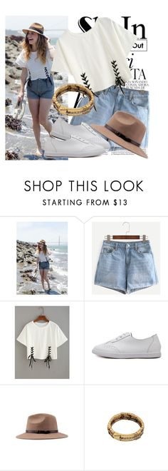 """""""33. SheIn"""" by slovak-queen1997 ❤ liked on Polyvore featuring Whiteley, Tshirt, crazyforfashion, shein and lacetshirt"""