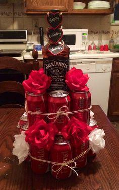 Jack Daniels and Coke cake Adult Birthday Cakes, 21st Birthday Gifts, Cake Birthday, Birthday Recipes, Birthday Ideas, Birthday Surprise Boyfriend, Husband Birthday, Coke Cake, Cake In A Can