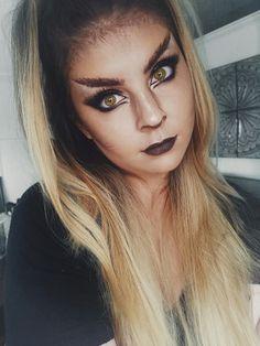 Halloween makeup. werewolf!