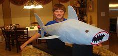 Papier mache shark