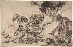 Jacques de Gheyn II (Netherlandish, 1565–1629). Witches' Sabbath, late 16th–early 17th century. The Metropolitan Museum of Art, New York.  Purchase, Joseph Pulitzer Bequest, 1962 (62.196) #Halloween #witches