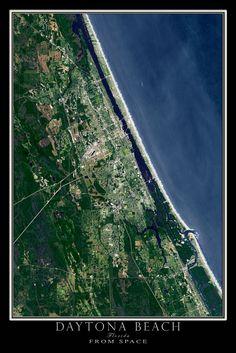 Tampa Bay Florida Satellite Poster Map Sunshine State