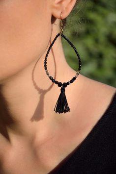 Bijoux bohème, bijoux, boucles d'oreille, boucle, http://www.alittlemarket.com/boutique/bijouxsansfin-917875.html