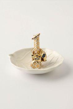 gold giraffe ring dish