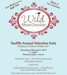 #WildAboutChocolate is just a few days away! Grab your tickets now at awrc.org!