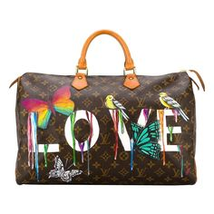 Shop Louis Vuitton Pre-Owned dripping love 'Speedy' monogram tote Vintage Louis Vuitton, Louis Vuitton Totes, Louis Vuitton Handbags, Purses And Handbags, Louis Vuitton Monogram, Tote Handbags, Clutch Bags, Fashion Handbags, Louis Vuitton Taschen