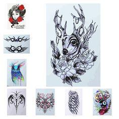 Yan & Lei Temporary Tattoo Sticker Sets-H