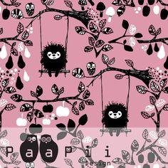 PaaPii Design - Siiri keinuu luomujersey, vaaleanpunainen