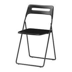 IKEA - NISSE, Cadeira dobrável, Pode fechar a cadeira para economizar espaço quando não está a usá-la.Pode pendurar-se num gancho na parede para libertar espaço.