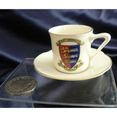 Gemma Crested China Cup And Saucer - Great Yarmouth Crest