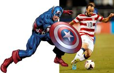 Marvel Superheroes And Their Pro Athlete Counterpart