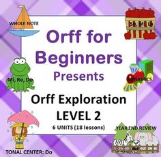 Orff Exploration Level Two:  Welcome Back!  We hope that you will continue teaching your students the amazing world of SING, SAY, MOVE, and PLAY!  If you enjoyed Orff Exploration Level One, you are in for some more exciting lessons in Level Two.  While Level One was designed primarily for first grade students, Level Two is designed for second graders.