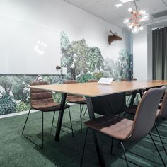 Bellewood seen in a conference room in an office in Stockholm. Designer: pS A. Commercial Design, Commercial Interiors, Conference Room Design, Dining Chairs, Dining Table, Co Working, Room Wallpaper, Office Interiors, Office Decor