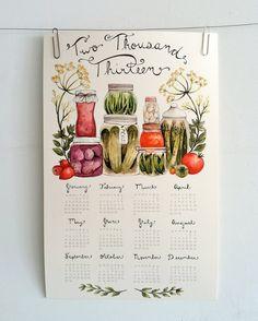 Canning Love 2013 Wall Calendar. $15.00, via Etsy.