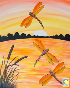 Dragonfly Paint and Sip Party