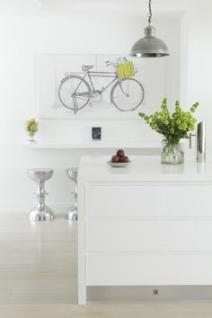 Blackbutt floors painted with Porter's Wood Wash in white, which gives a beautiful, soft, aged and limed finish