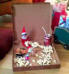 Top Elf on the Shelf Ideas (FREE printables!) - I Heart Naptime Check out these top 50 elf on the shelf ideas. There are so many creative ways to hide your elf. Some of these are really funny! Have fun! All Things Christmas, Christmas Holidays, Christmas Crafts, Christmas Decorations, Christmas Ideas, Happy Holidays, Christmas Pizza, Merry Christmas, Elf On The Self