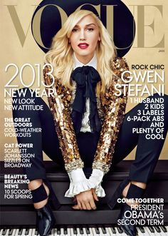Gwen Stefani Wears Saint Laurent on Her First Vogue Cover
