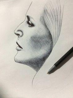 Bedelia Du Maurier, pen sketch. How Impressive!