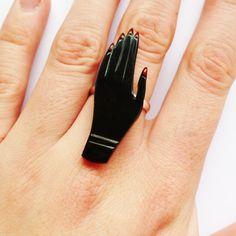 Healing Hand Ring  Black by JuliadeKlerk on Etsy