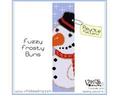 Beadweaving Pattern Peyote for bracelet: Fuzzy Frosty-Buns - pdf - 3 for 2 sale - bp291