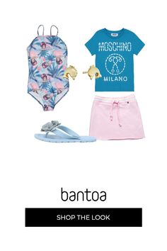 20274a0f4069fe T-shirt Moschino Kids con stampa, gonna rosa coulisse in vita, splendido  costume